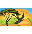 bird fly near tree vector image vector image