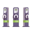 Electric vechle charging station vector image
