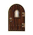 wooden door with window vector image
