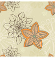 Floral seamelss wallpaper vector image vector image