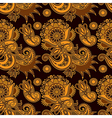 seamless flower paisley design vector image vector image