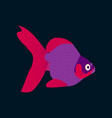 in flat style goldfish vector image