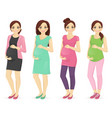 woman pregnant clothers vector image vector image