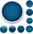 Round dark blue icons vector image
