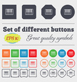 piano key icon sign Big set of colorful diverse vector image