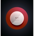 transparent glass button vector image vector image