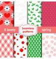 Set of romantic chic seamless patterns vector image