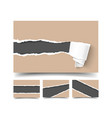 business card with torn paper realistic vector image