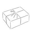 Drawing of box vector image