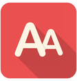 Font size icon vector image
