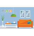 Interior decoration living room vector image