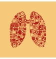 lung icon vector image