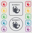 Scorpio icon sign symbol on the Round and square vector image