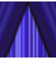 Blue Textile Pattern Cinema Stage vector image