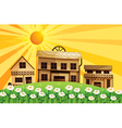 Cartoon Sunshine Village vector image
