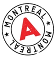 Montreal stamp rubber grunge vector image
