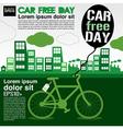 World car free day ecology conceptual EPS10 vector image vector image