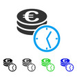 euro coins and time flat icon vector image
