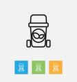 of hygiene symbol on waste vector image