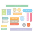 Ribbons label stickers vector image vector image