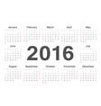 rcircle calendar 2016 vector image