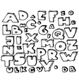 doodle alphabet set vector image