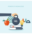Flat study background Power vector image