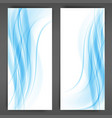 blue transparent wave abstract background waves vector image