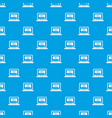 button sale on laptop pattern seamless blue vector image