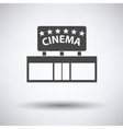 Cinema entrance icon vector image