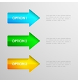 colorful arrows infographic elements vector image