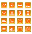 disabled people care set simple style vector image