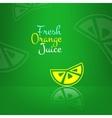 fresh orange juice menu background Green vector image