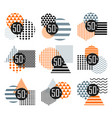 halloween sale sticker set vector image