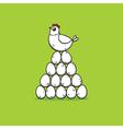 hen on eggs vector image