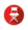 icon chair director movie design vector image