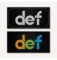 letter D E F logo alphabet chalk icon set vector image