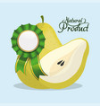 pear natural product quality vector image