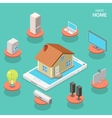 Smart house isometric flat concept vector image