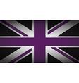uk purple and black vector image
