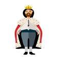 King Flat style colorful Cartoon vector image