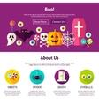 Boo Web Design Template vector image