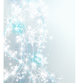 Silver snowflake background vector image vector image