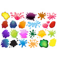 Painting ink splashes vector image vector image