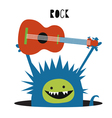 Blue monster rock musician vector image