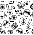 easter muzzle pattern vector image