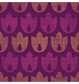 Abstract textile geometric tulips stripes seamless vector image