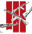 ak-47 poster vector image