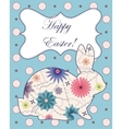 Background with easter rabbit vector image