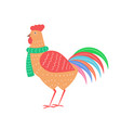closeup of rooster with scarf vector image